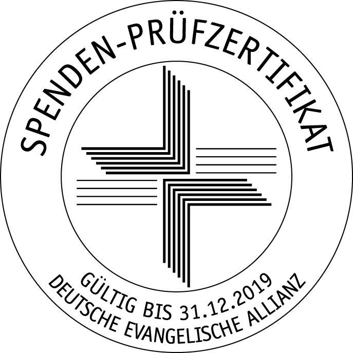 Spendensiegel der Deutschen Evangelischen Allianz für die DIPM