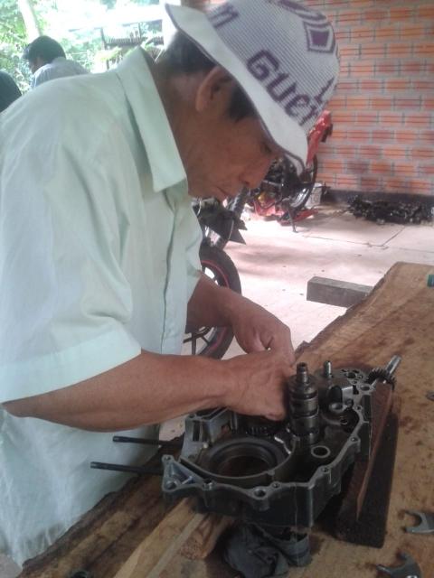 Motorradmechanikerkurs Karanda´y 2020